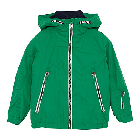 bluezoo - Boy+s green hooded jacket