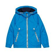 Boy's blue fleece lined hooded jacket