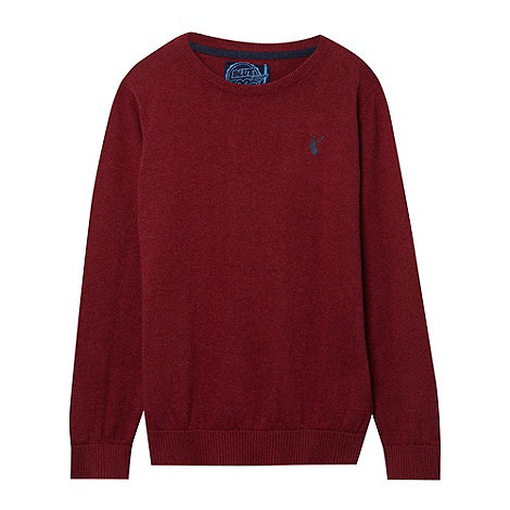 bluezoo - Boy+s dark red crew neck jumper