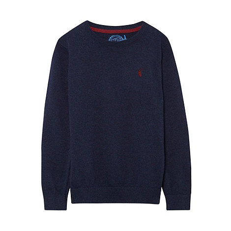 bluezoo - Boy+s navy crew neck jumper
