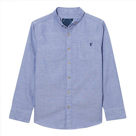 bluezoo - Boy+s blue chambray long sleeved shirt