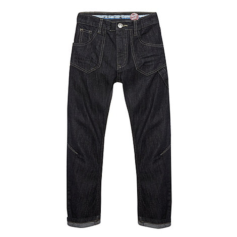 bluezoo - Boy+s dark wash blue slouch fit jeans