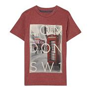 Boy's red London print t-shirt