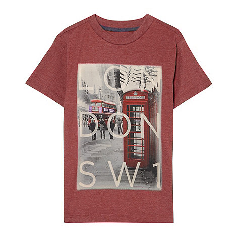 bluezoo - Boy+s red London print t-shirt