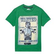 Boy's green 'Wanted Meerkat' t-shirt