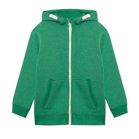 bluezoo - Boy+s green zip through sweat hoodie