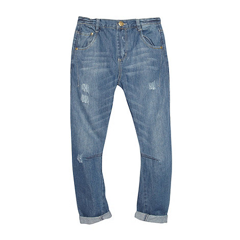 bluezoo - Boy+s blue light wash slouch fit jeans