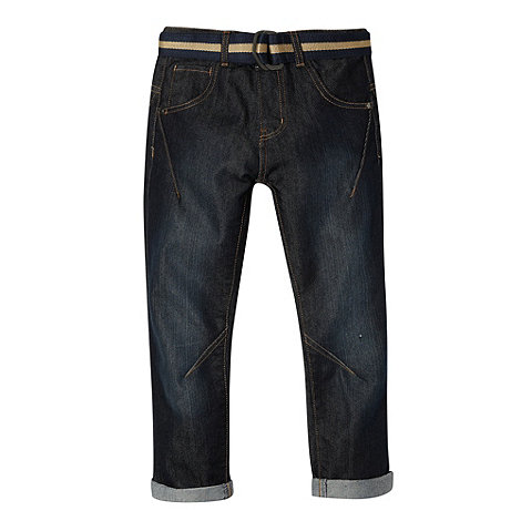bluezoo - Boy+s blue belted skinny fit jeans