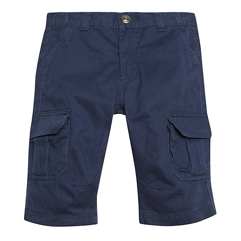 bluezoo - Boy+s navy twill cargo shorts