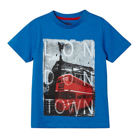 bluezoo - Boy+s blue +London Town+ t-shirt