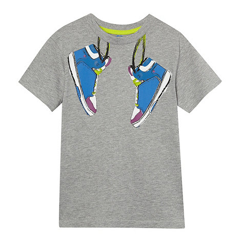 bluezoo - Boy+s grey trainers t-shirt