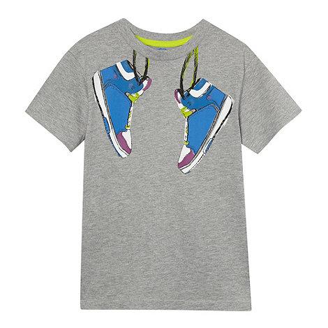bluezoo - Boy+s grey trainers t-shirt