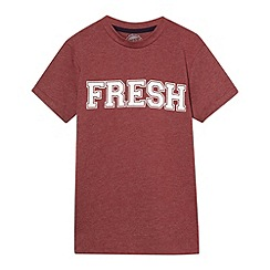 bluezoo - Boy's dark red 'Fresh' t-shirt