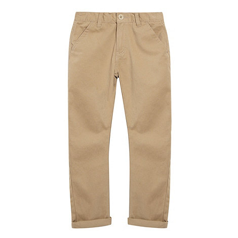 bluezoo - Boy+s beige carrot leg chinos