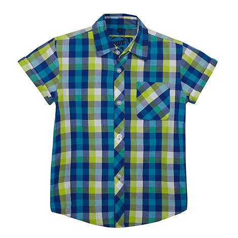 bluezoo - Boy+s lime checked shirt
