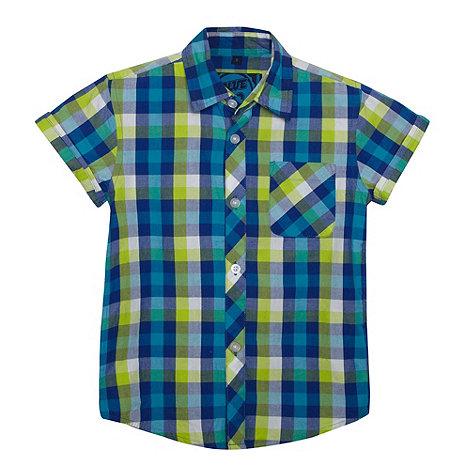 bluezoo - Boy+s lime checked shirt