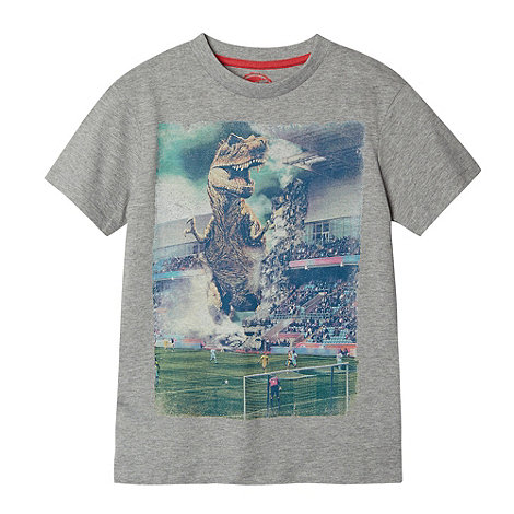 bluezoo - Boy+s grey dinosaur stadium t-shirt