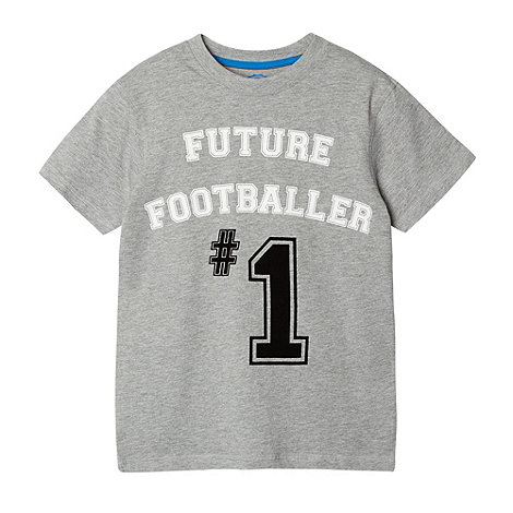 bluezoo - Boy+s grey +Future footballer+ t-shirt