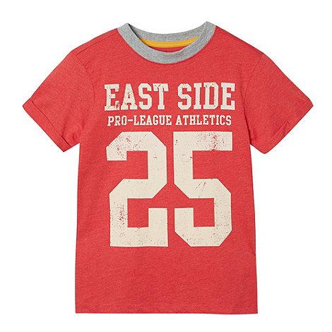bluezoo - Boy+s red varsity t-shirt