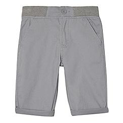 bluezoo - Boy's grey ribbed waist chino shorts