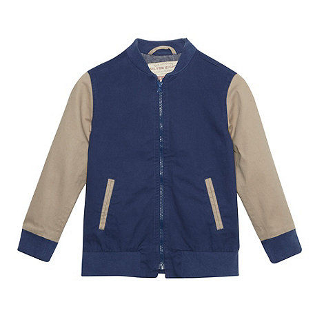 Silver Eight - Boy+s dark blue varsity jacket