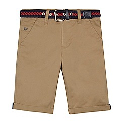 J by Jasper Conran - Boys' light tan belted chino shorts