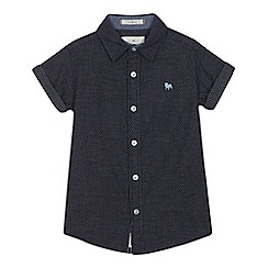 J by Jasper Conran - Boys' navy textured patterned shirt