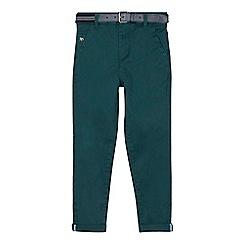 J by Jasper Conran - Boys' green belted slim fit chinos
