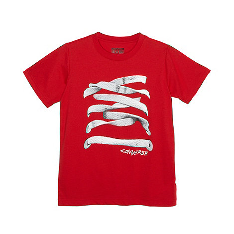 Converse - Boy+s red laces t-shirt