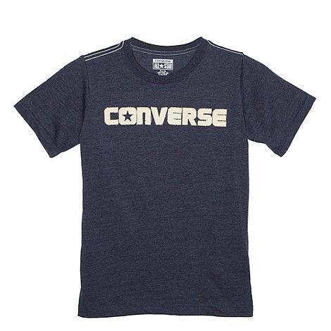 Converse - Boy+s navy logo t-shirt