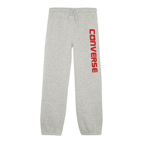 Converse - Boy+s grey branded jogging bottoms