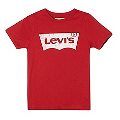 Levi's - Boy's red batwing logo t-shirt