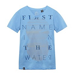 O'Neill - Boy's light blue 'First Name' print t-shirt