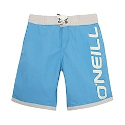 O'Neill - Boy's light blue logo print swim shorts