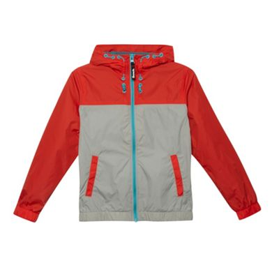 Bench Boy´s red lightweight woven colour block jacket - . -