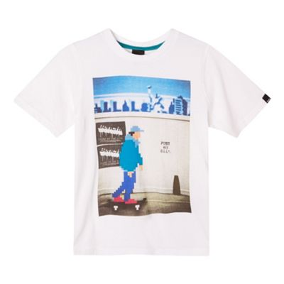 Bench Boy´s white graphic skater t-shirt - . -