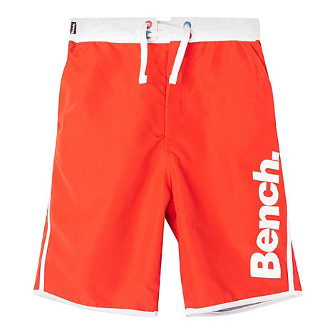 Bench - Boy+s red side logo swim shorts