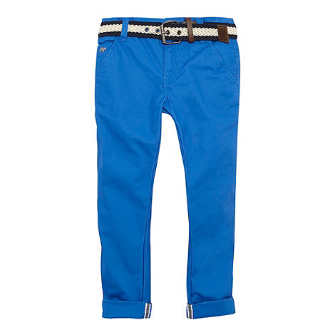 J by Jasper Conran - Designer boy+s blue belted chino trousers