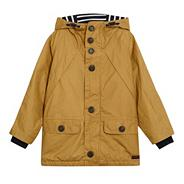 Designer boy's tan lightweight parka jacket