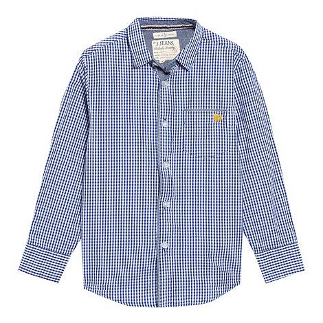J by Jasper Conran - Designer boy+s blue gingham smart shirt