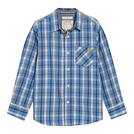 J by Jasper Conran - Designer boy+s blue checked shirt