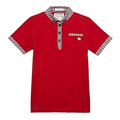 J by Jasper Conran - Designer boy's red checked polo shirt