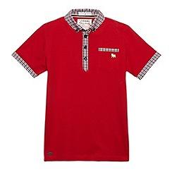 J by Jasper Conran - Designer boy's red checked polo shirt