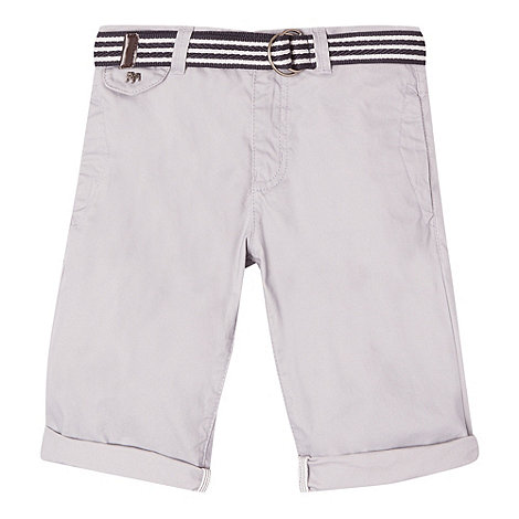 J by Jasper Conran - Boy+s grey belted chino shorts