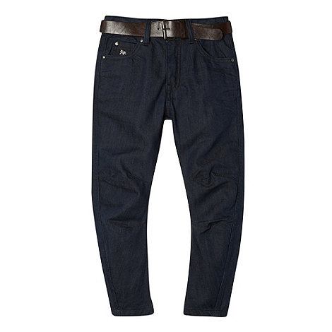 J by Jasper Conran - Designer boy's blue twisted seam belted jeans