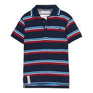 Designer boy's navy striped polo shirt