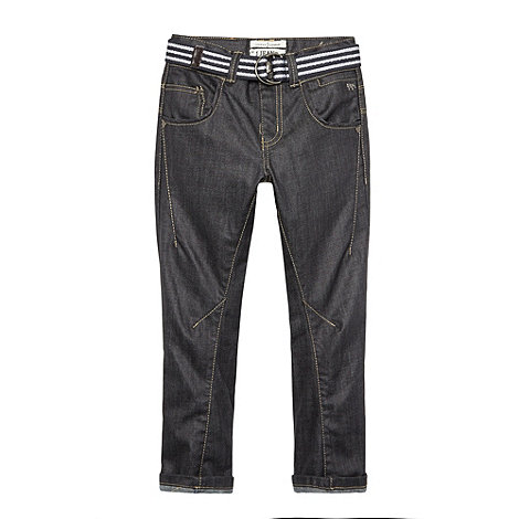 J by Jasper Conran - Designer boy+s blue coated twisted jeans