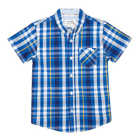 J by Jasper Conran - Designer boy+s blue checked shirt