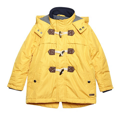 J by Jasper Conran - Designer boy+s yellow padded duffle coat