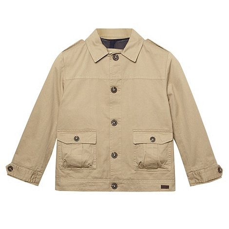 J by Jasper Conran - Designer boy+s beige button through jacket